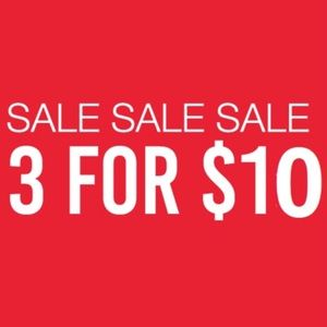 🌟3 for $10🌟 SALE!!